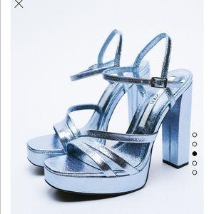 Zara Metallic Strappy sandals